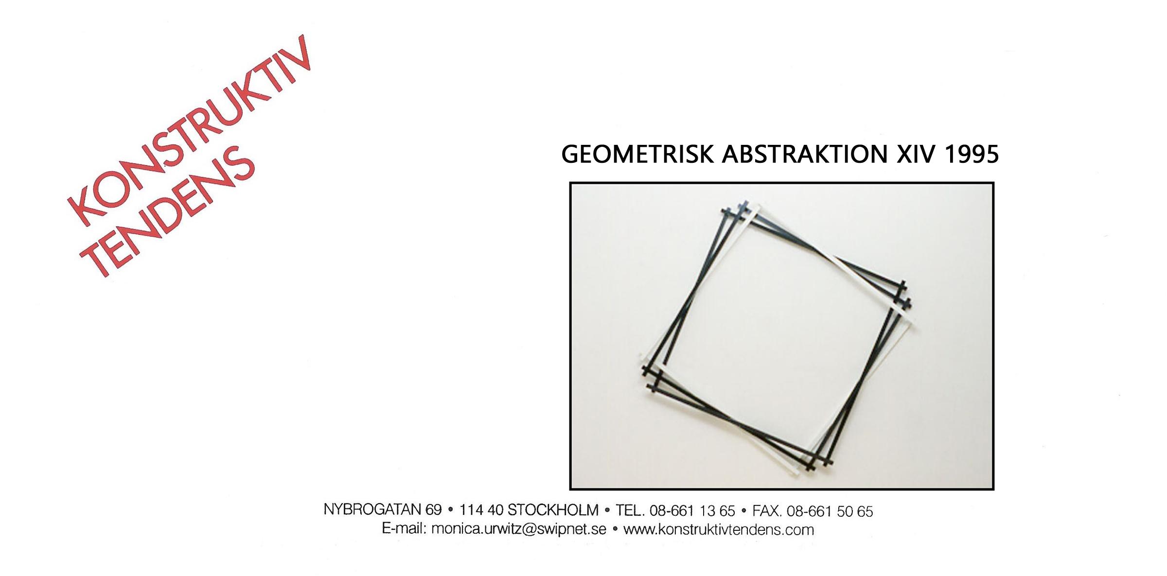 1995 Geometrisk Abstraktion XIV   Galerie Konstruktiv Tendens, Stockholm, SWE