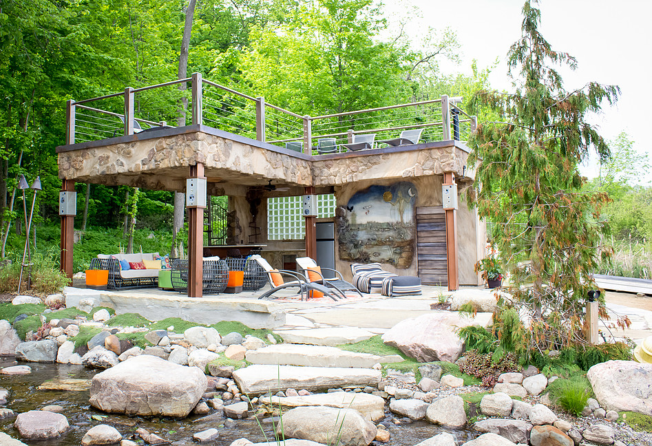 Residential. Custom outdoor kitchen