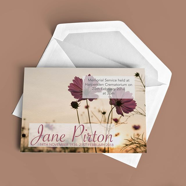 We create Attendance Cards to match the Order of Service. We like to ensure that your whole order is fully tailored to your needs. Contact us 01707 252563 #funerals #funeralstationary #funeralprinting #bespokeprinting #funeraldirector #funeralservice #printingservice #orderofservice #bespoke #fullytailored #designed #stationary