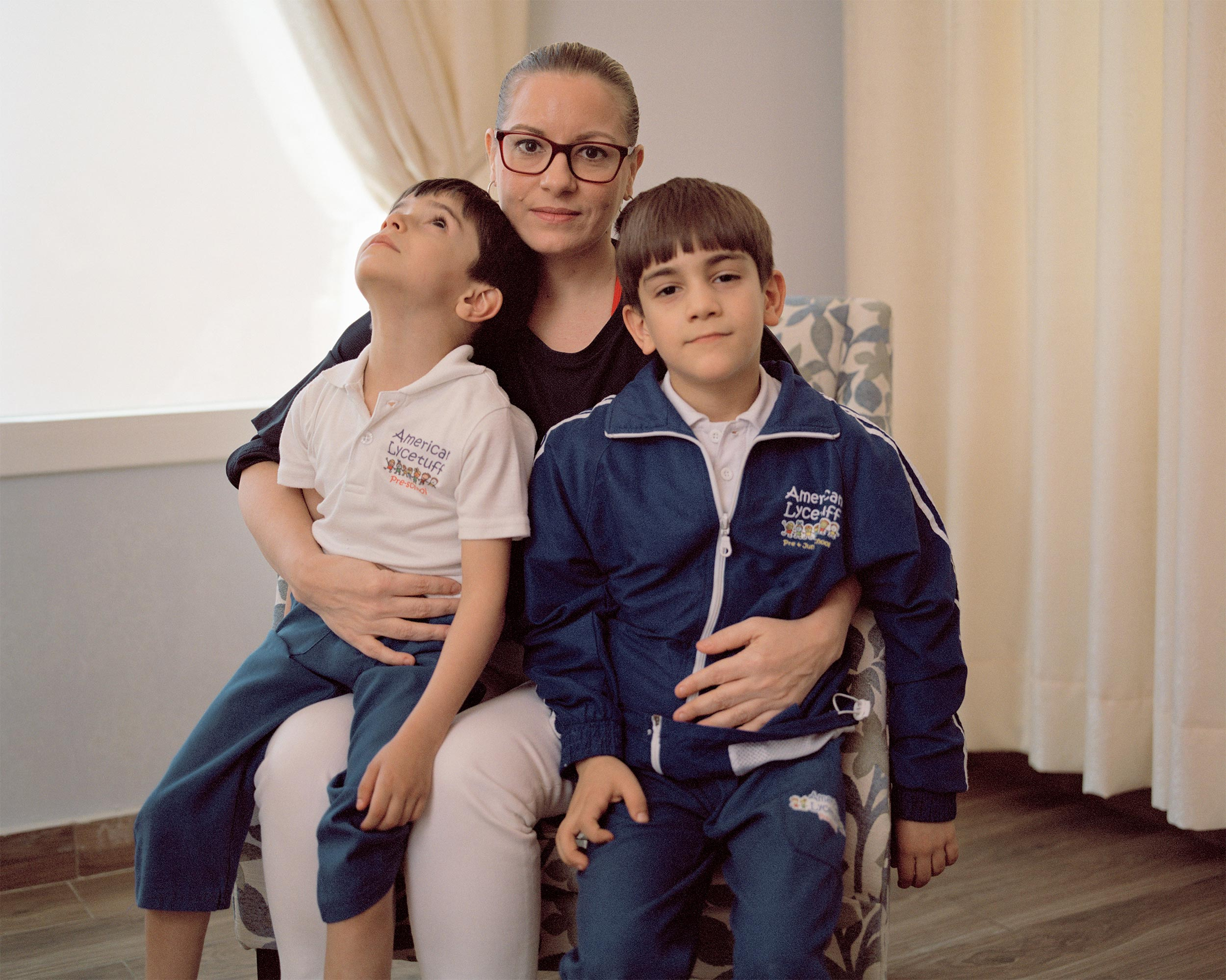 photograph of family inside from series XO
