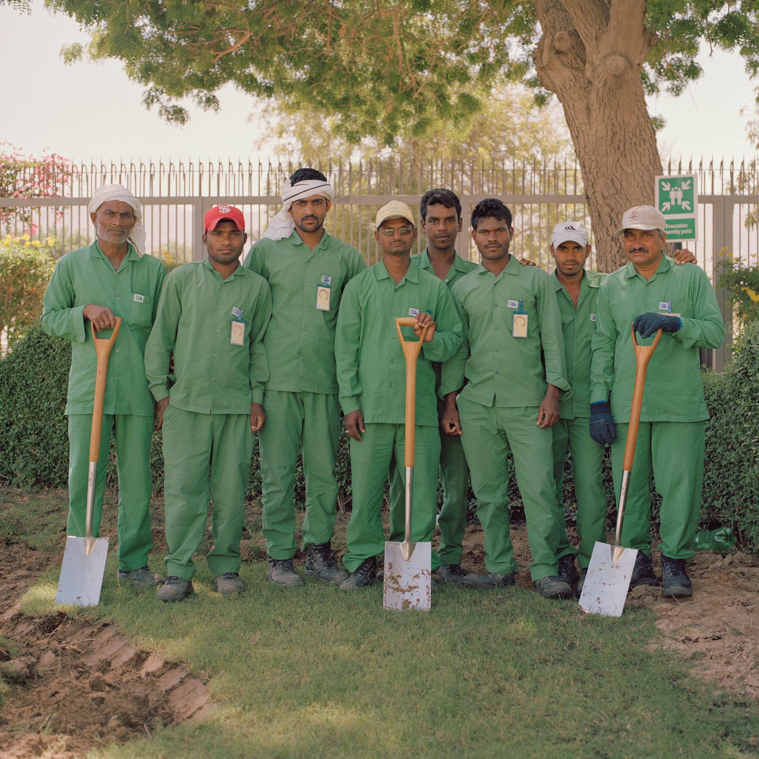 photograph of men working at British Embassy from series XO
