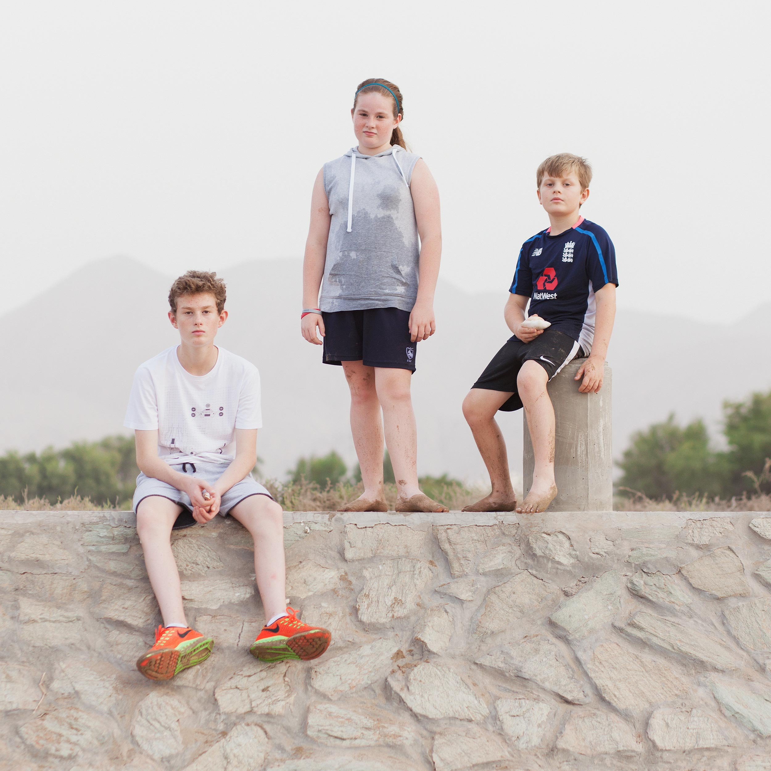 photograph of children outside from series XO