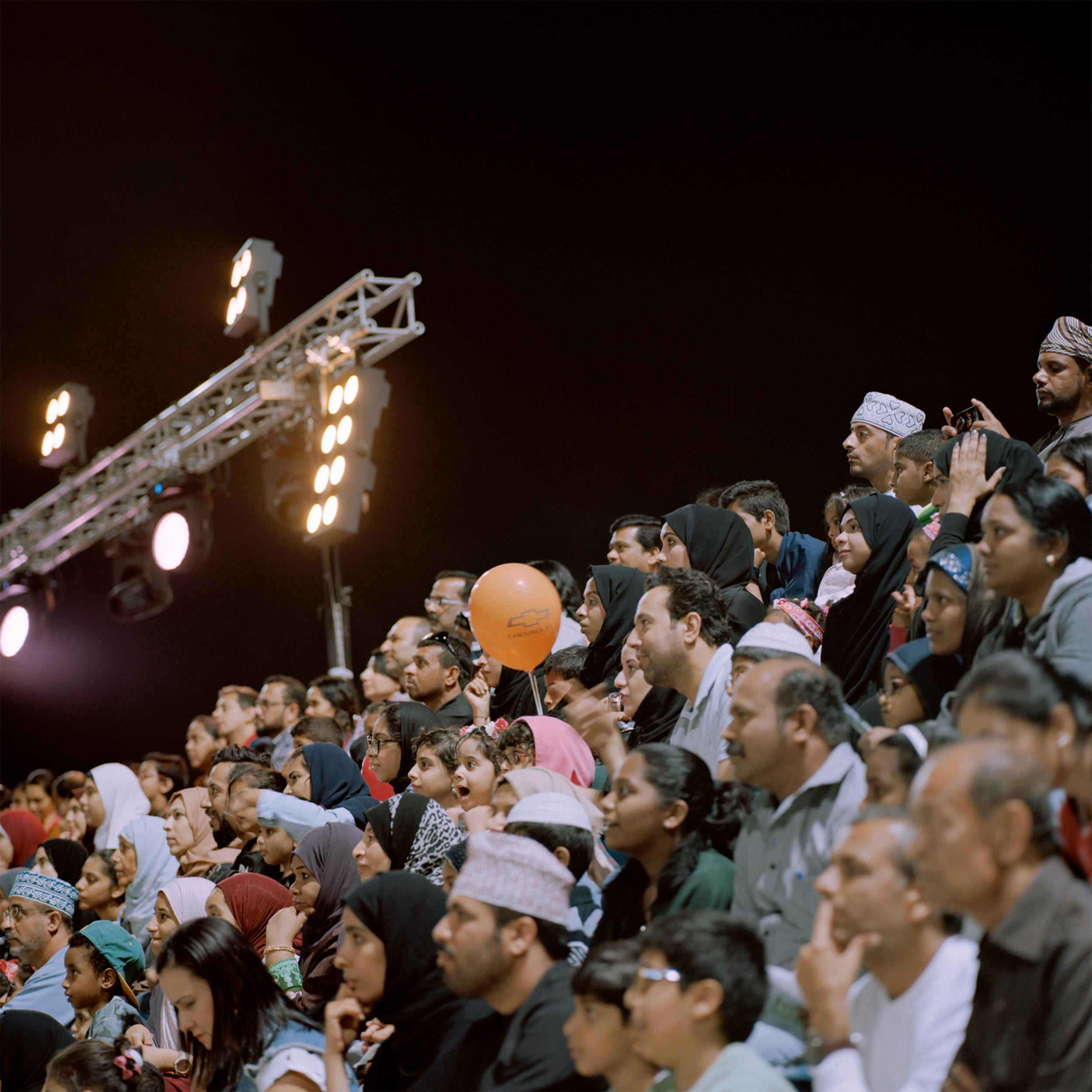 photograph of crowd at Muscat Festival from series XO