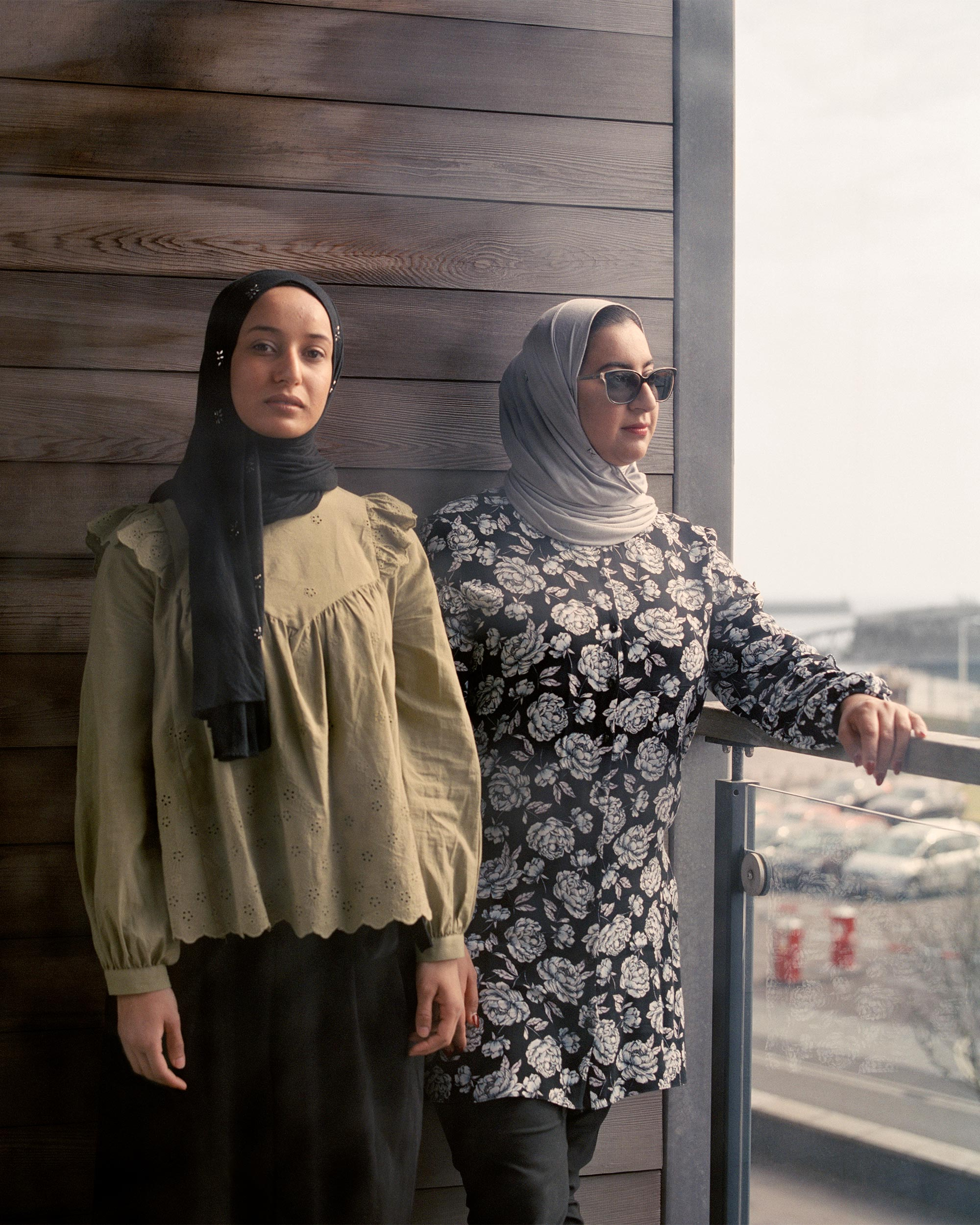 photograph of girls wearing hijab outside from series XO