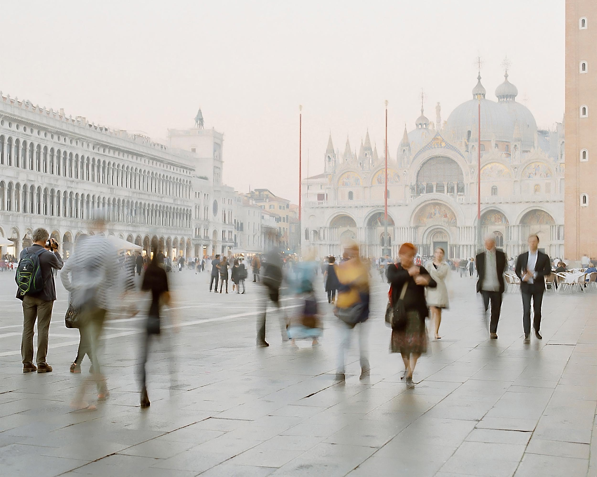 photograph of busy street landscape in Venice