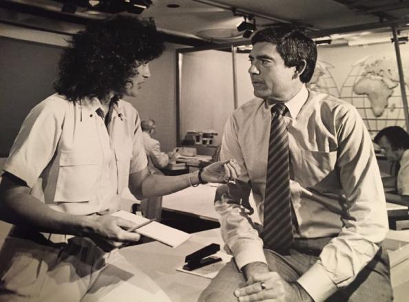 Geraldine Sharpe-Newton & Dan Rather, CBS News