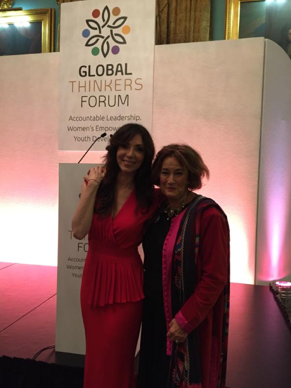 Geraldine Sharpe-Newton &   Elizabeth Filippouliat the GTF Awards 2016