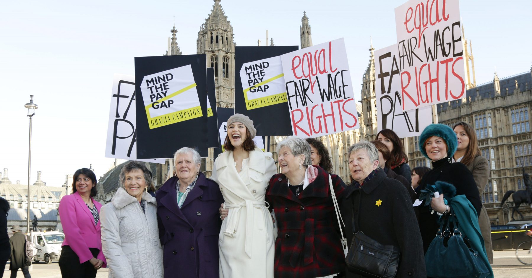 A gender pay gap demonstration in London