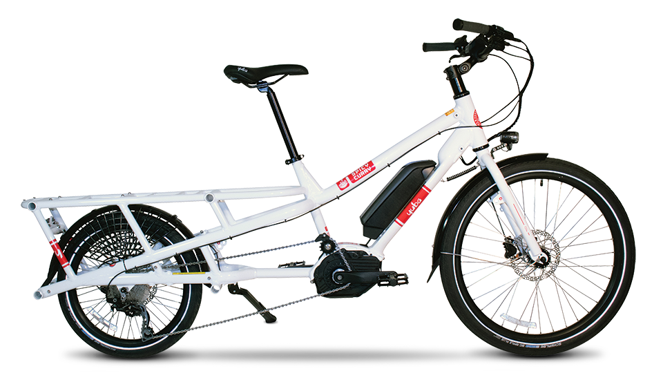 Need a boost? - Consider an electric Yuba. The Yuba Spicy Curry Bosch and Electric Boda Boda offer state-of-the-art Bosch eBike performance systems for serious climbing and unparalleled range. Parents especially like the extra low rear rack for added stability over their wiggly load.