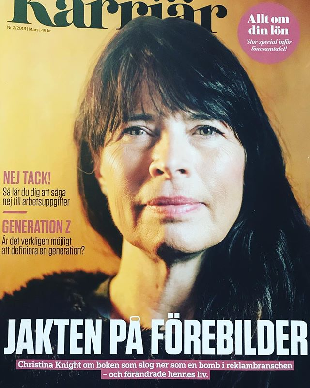 TakeTwo´s Co-Founder Christina Knight on the importance of #Representation and more women as role models in the advertising industry, Jusek´s magazine Karriär.  http://www.tidningenkarriar.se/karriar/artiklar/2018/2/jakten-pa-kvinnliga-forebilder/