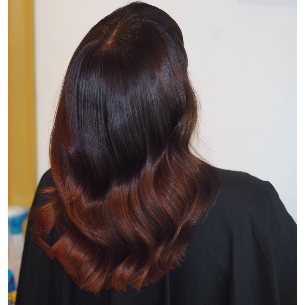 This was the colour that Sofie did yesterday. And depth and red tones for a beautiful balayage effect.  The client was absolutely delighted 👍🏻 No extensions were applied.  Just natural hair.jpeg