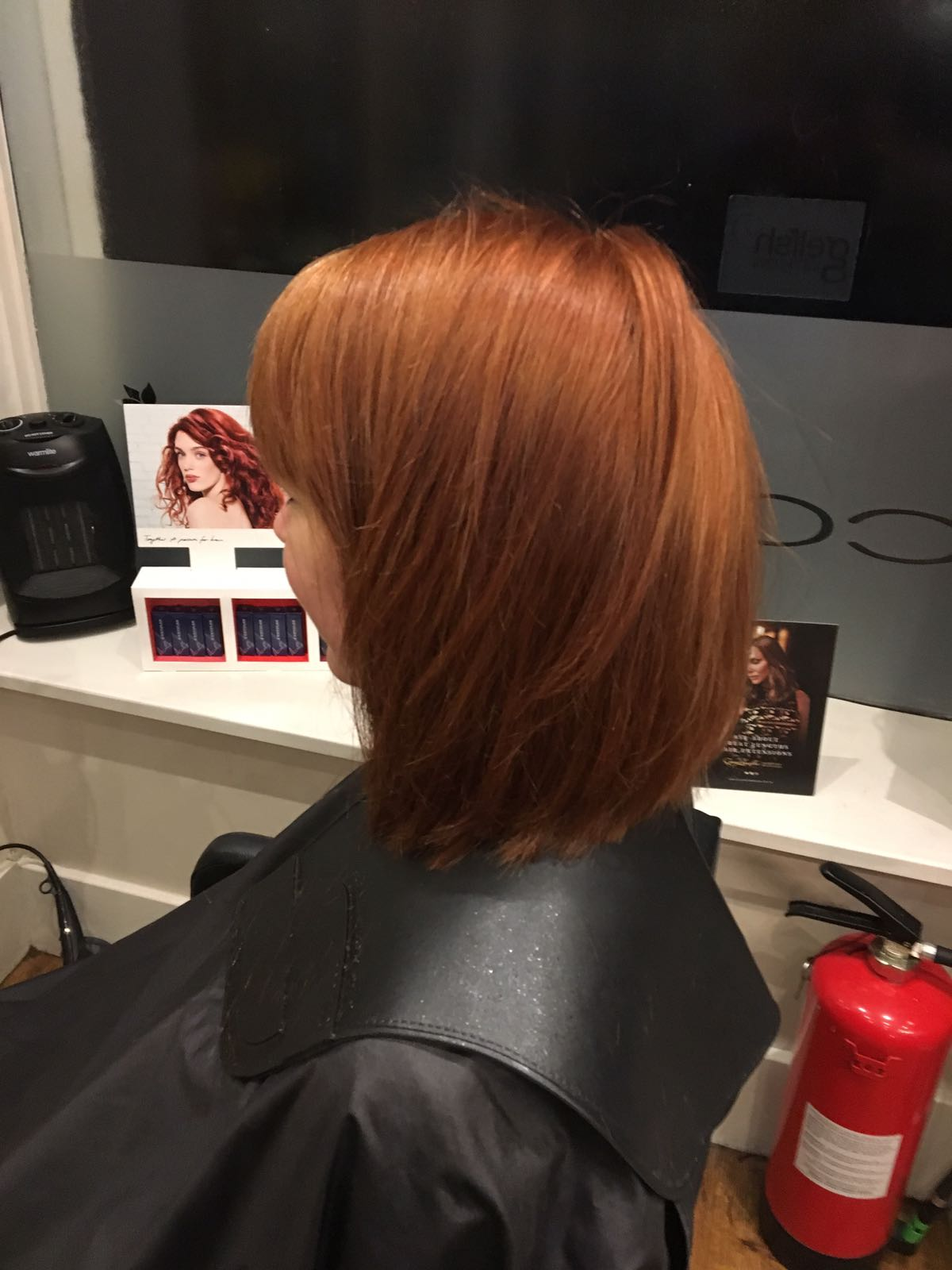Client was a natural red head who had lost her tone. So created a strong but natural red colour and a nice textured bob.jpeg