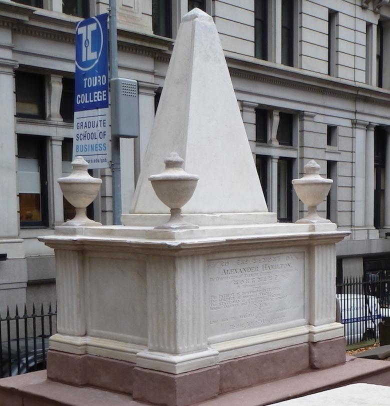 Alexander Hamilton Monument, Trinity Churchyard