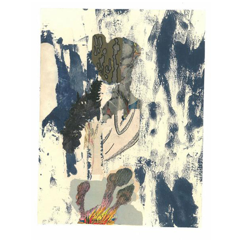 """Michael Scheurer   Untitled #11 (California Series) , 2014 mixed media collage on paper 19 x 16"""" framed  Inquire >"""