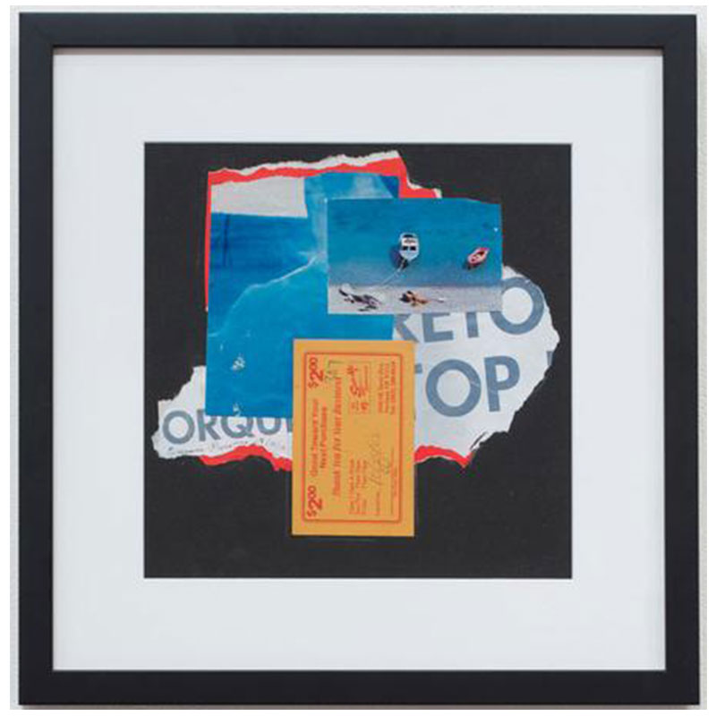 """Eunice Parsons   Sam Ho's , 2016 collage 15 x 15"""" framed  Inquire >"""