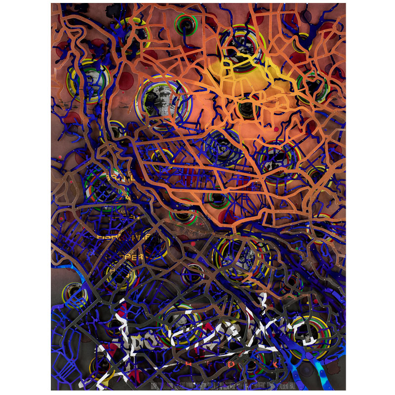 """Apocalypse Now , 2018 archival papers and boards 35 x 26 x 5""""  Inquire >"""