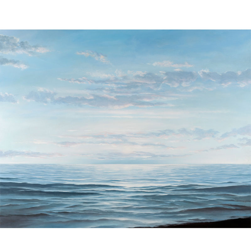 """Clear Blue , 2016 oil on linen 38 x 45""""  Inquire >"""