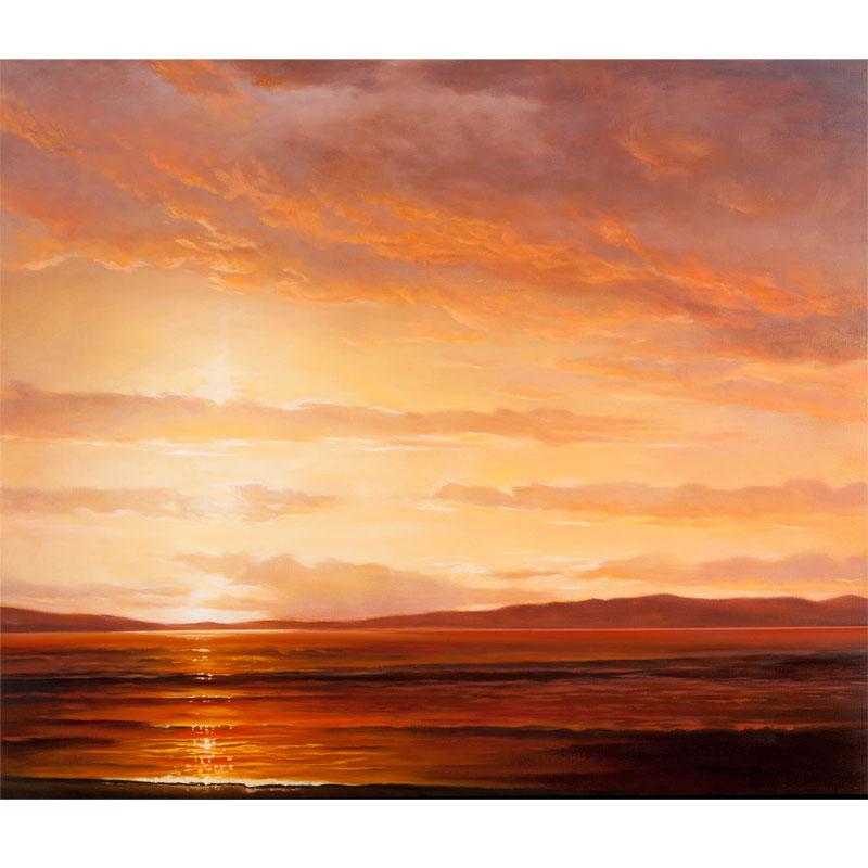 """Far Shore , 2016 oil on linen 33 x 38""""  Inquire >"""