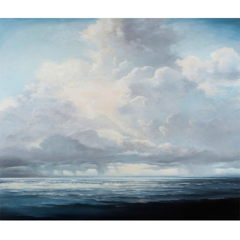 """Long Tide , 2016 oil on linen 36 x 36""""  Inquire >"""