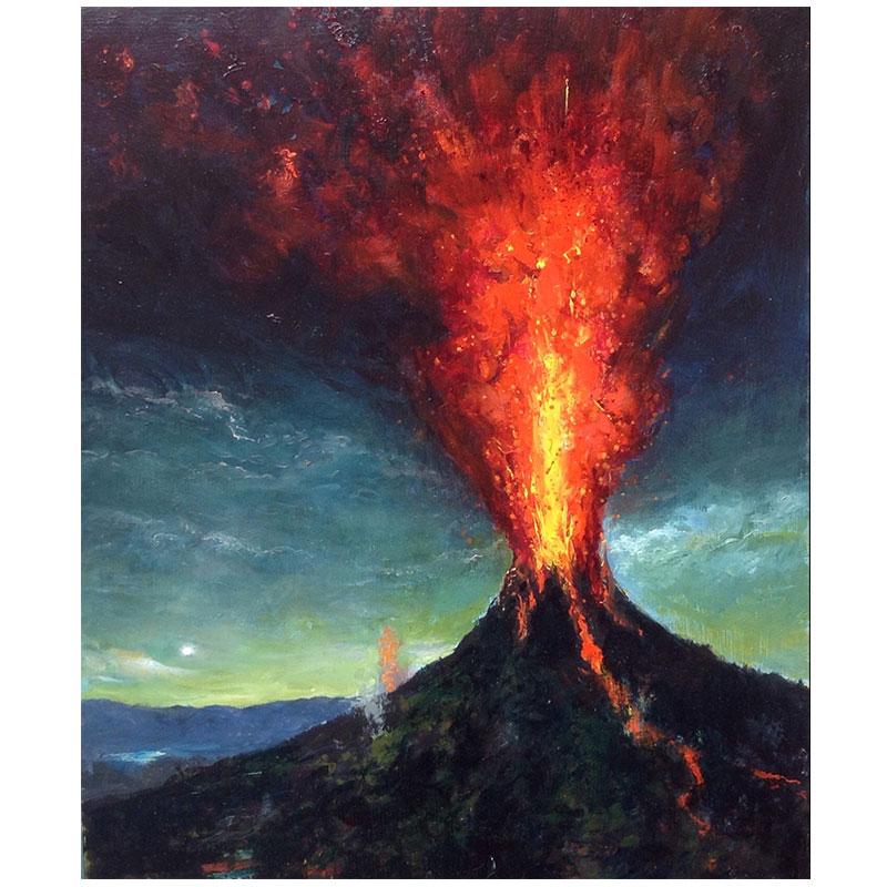 "Volcano III , 2017 oil on linen over panel 14 x 11""  Inquire >"
