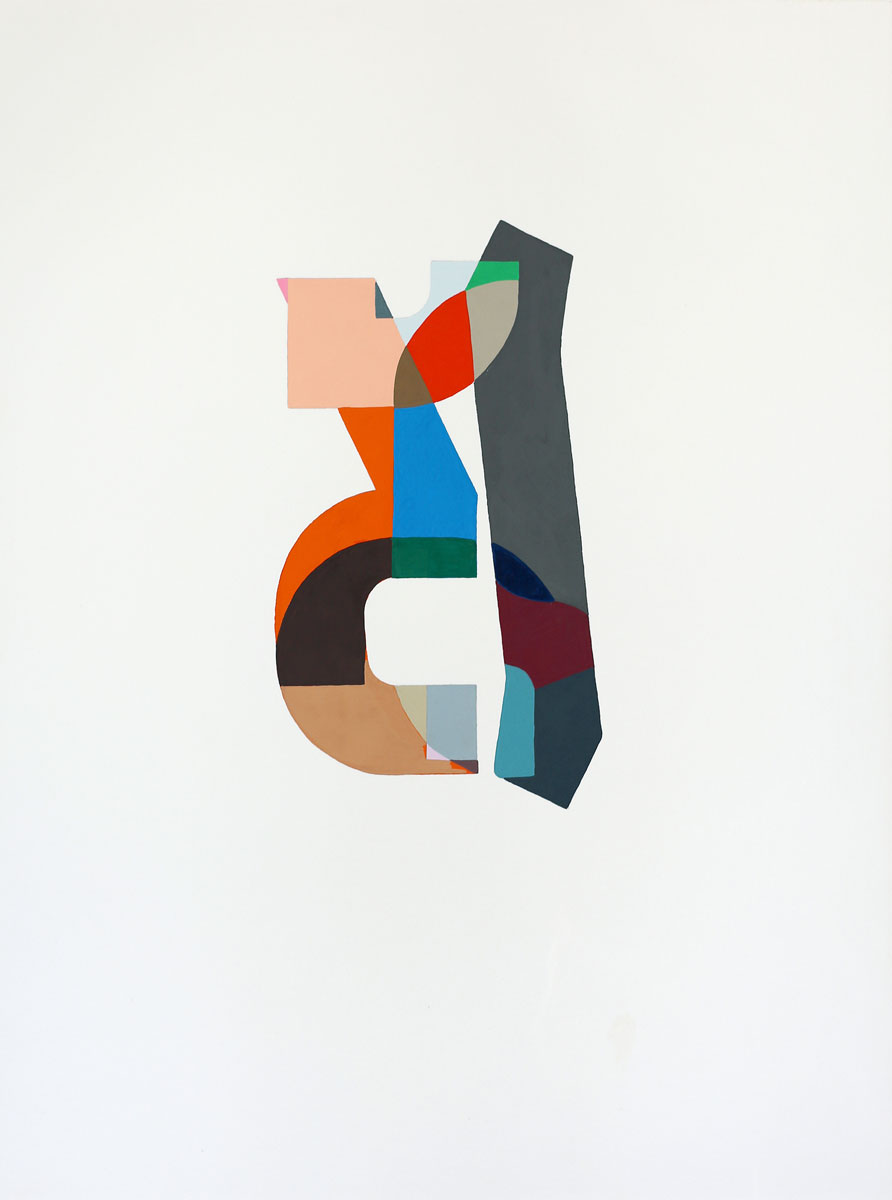 "Logo #4 , 2015 gouache on paper 16.75 x 13.25"""