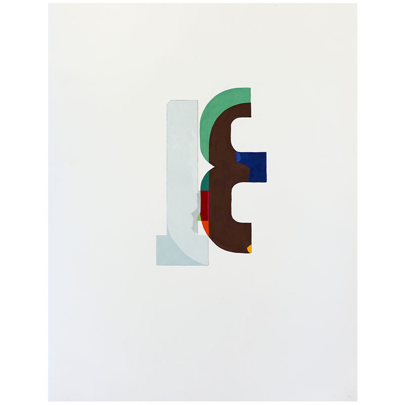 "Logo #7 , 2015 gouache on paper 14.5 x 11"" paper  Inquire >"