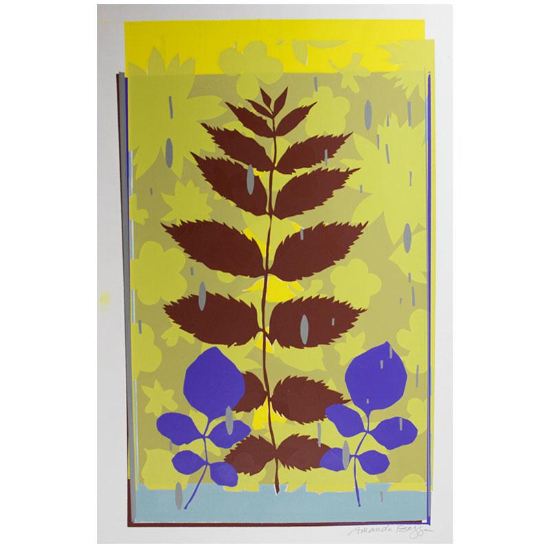 "Invasive Species #47 , 2013 screenprint monotype 22 x 15"" paper  Inquire > SOLD"