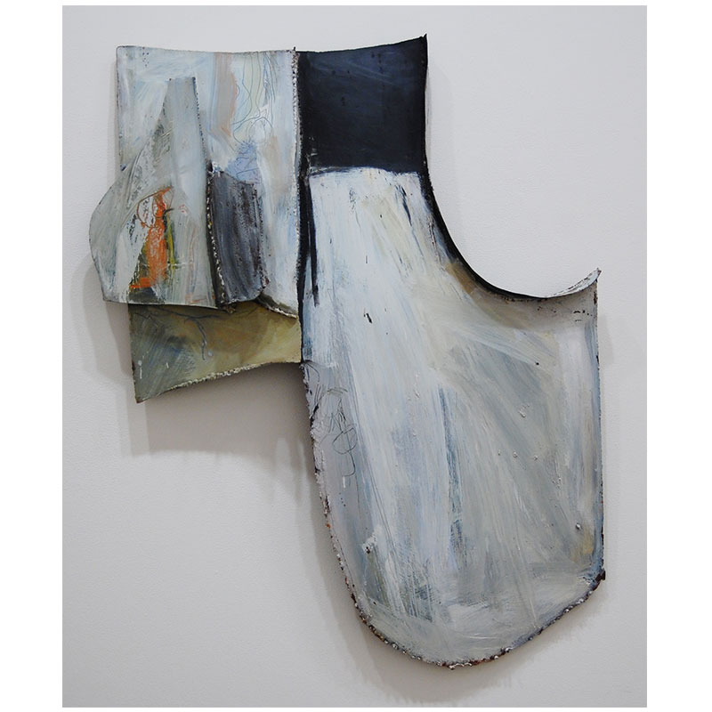 """Untitled (large white construction) , 1965 painted metal construction 48 x 40 x 6""""  Inquire >"""