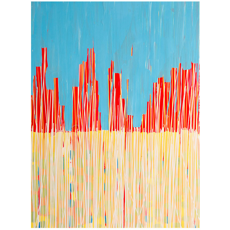 """Passages #54 , 2015 acrylic and Flashe on paper 30 x 22"""" paper  Inquire >"""