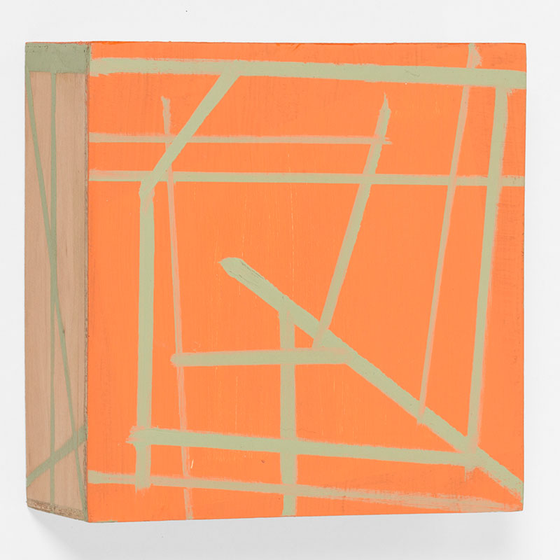 """Box , 2015 oil and wax on wood 5 x 5 x 2""""  Inquire >"""
