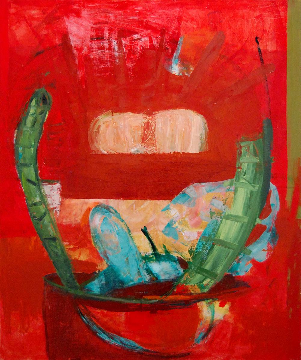 "Mohn , 2003 aliphatic urethane and pigment on linen 47.25 x 39.5"""