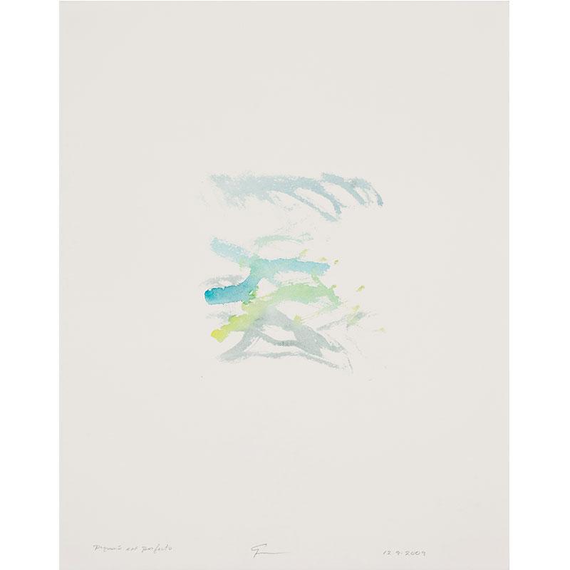"Pequeño Perfecto , 2009 watercolor on paper 20.5 x 16.25"" paper  Inquire >"