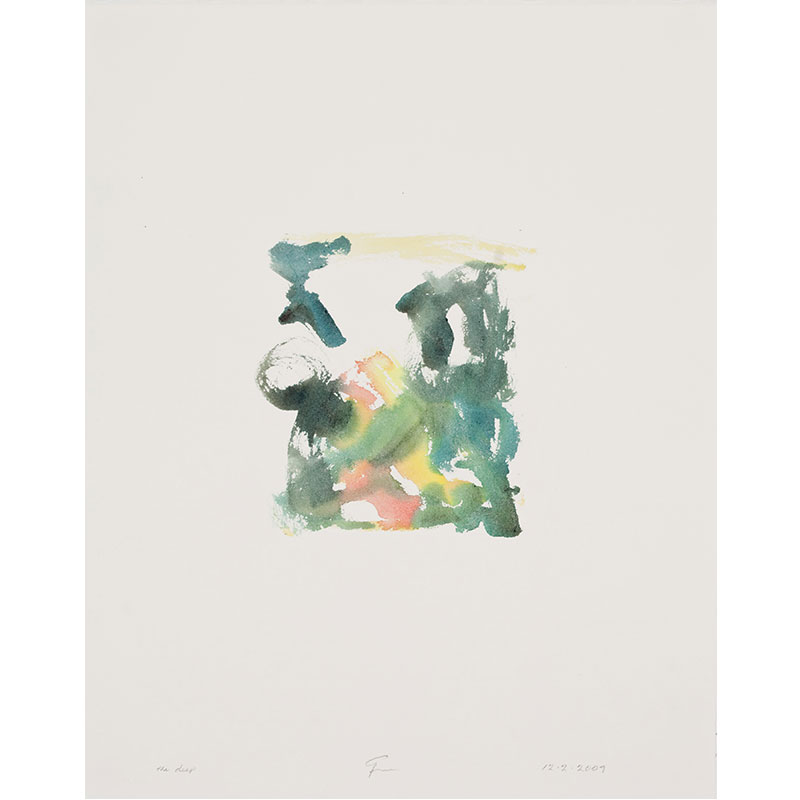 """The Deep , 2009 watercolor on paper 20.5 x 16.25"""" paper  Inquire >"""
