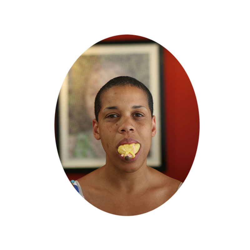 """Princess on the Tongue Series: Ruth , 2006 lenticular photograph  10 x 8"""" oval image 14 x 12"""" framed Edition of 5  Inquire >"""
