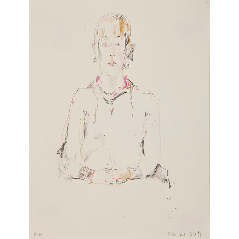 """Daphne I , 2011 graphite on paper 12 x 9"""" paper 17.5 x 14.25"""" framed  Inquire >"""