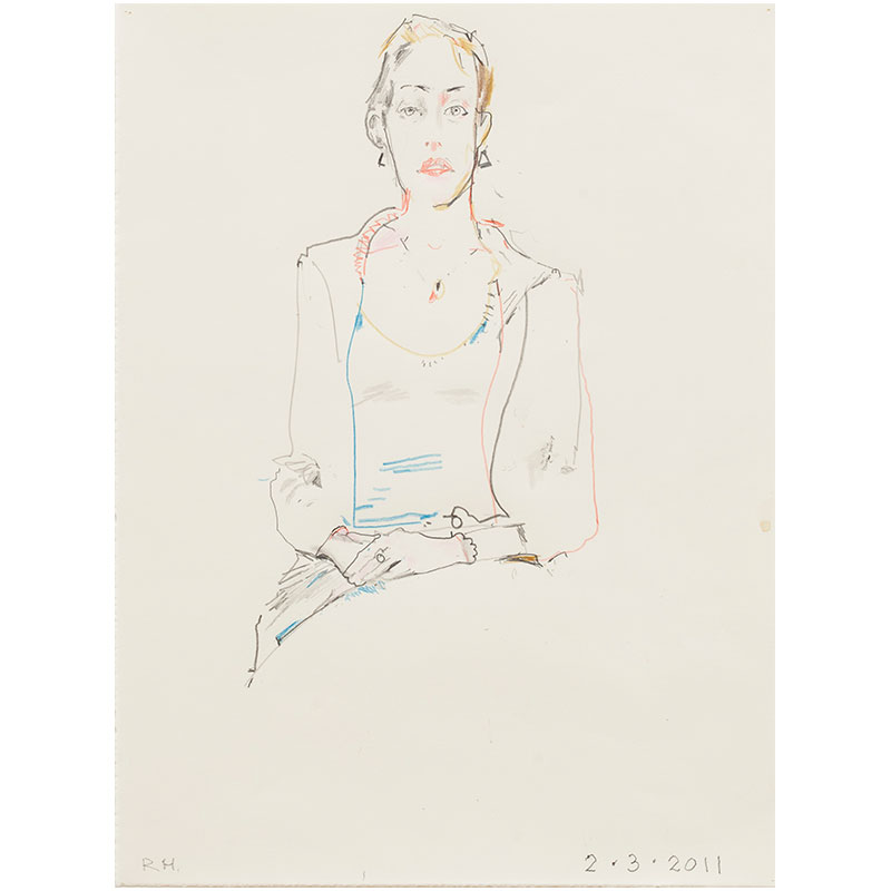 """Untitled (February 3, 2011) , 2011 graphite and colored pencil on paper 12 x 9"""" paper  Inquire >"""