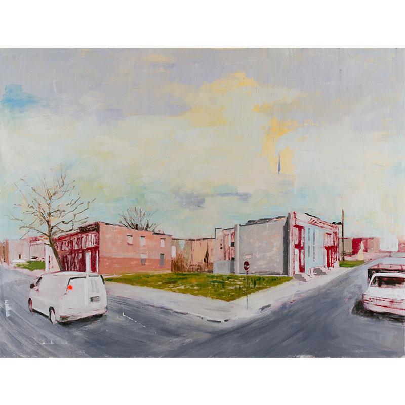 "Baltimore, MD (4-12-15) , 2017 oil on canvas 72 x 96""  Inquire >"