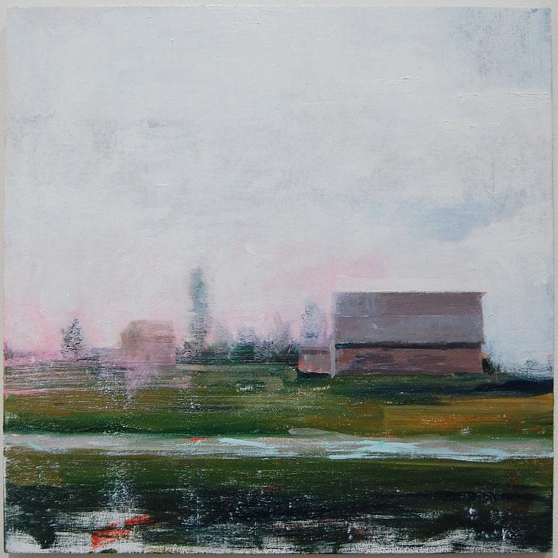 Desire Path , 2012 oil on canvas over panel 24 x 24  Inquire > SOLD