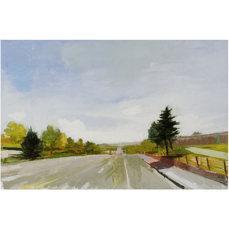 "Littleton (4-20-99) , 2016 oil on canvas 23.25 x 35.25""  Inquire >"