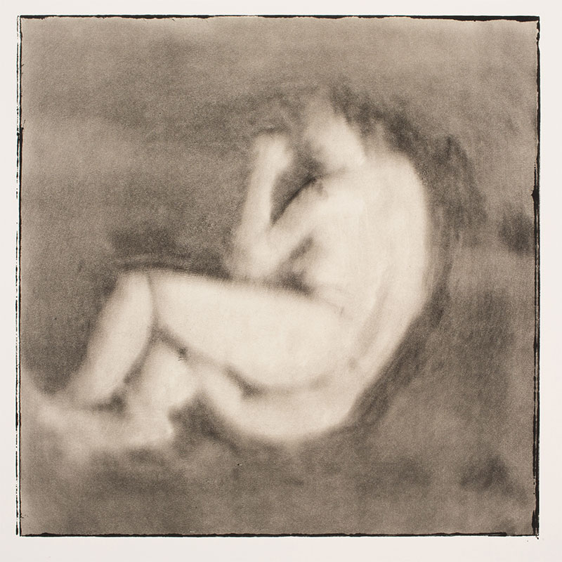 """Man/Woman (Curl) , 1995 monotype 12 x 12"""" image 30 x 22.5"""" paper  Inquire >"""