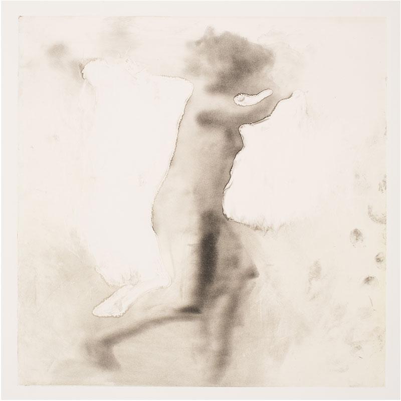 "Man/Woman (Haze) , 1995 monotype 12 x 12"" image 30 x 22.5"" paper  Inquire >"