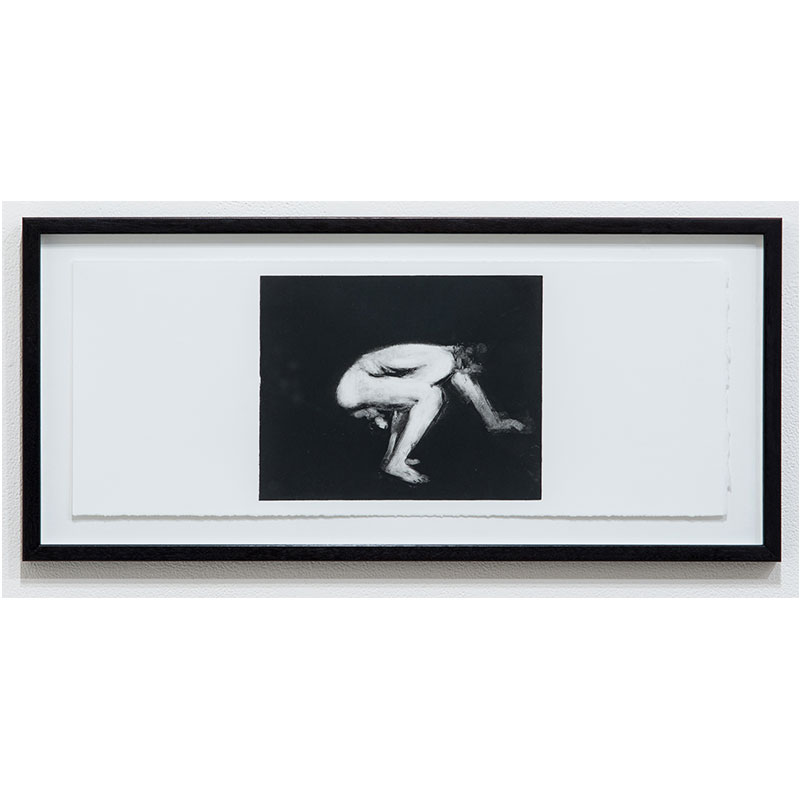 """Man Series 2 , 1993 monotype 7.5 x 18.25"""" paper 10.25 x 21"""" framed  Inquire >"""