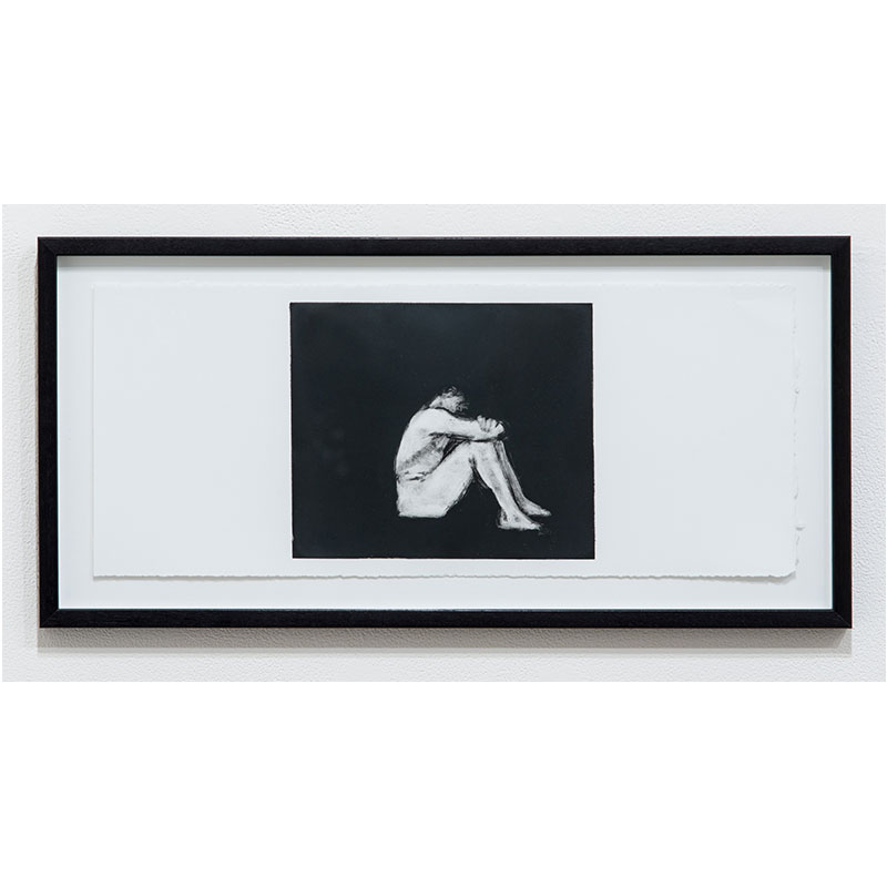 """Man Series 7 , 1993 monotype 7.5 x 18.25"""" paper 10.25 x 21"""" framed  Inquire >"""