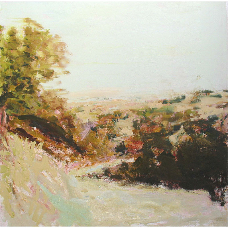 "Mental Prayer , 2006 oil on panel 30 x 30"" unframed 42 x 42"" framed  Inquire >"
