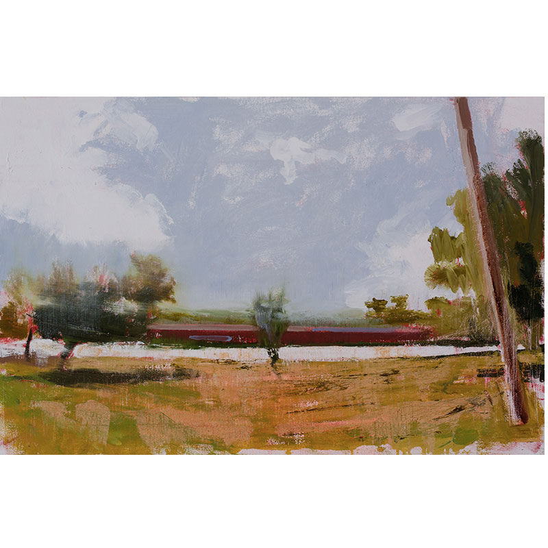 "Newtown (12-14-12) , 2016 oil on canvas 23.25 x 35.25""  Inquire >"