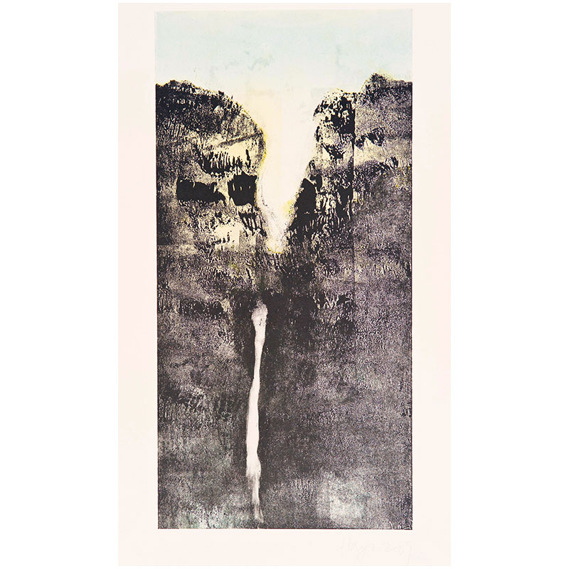 "Oakland Suite: Wild Beauty 12 , 2009 monoprint 22.5 x 15"" paper 17.75 x 8.75"" image  Inquire >"