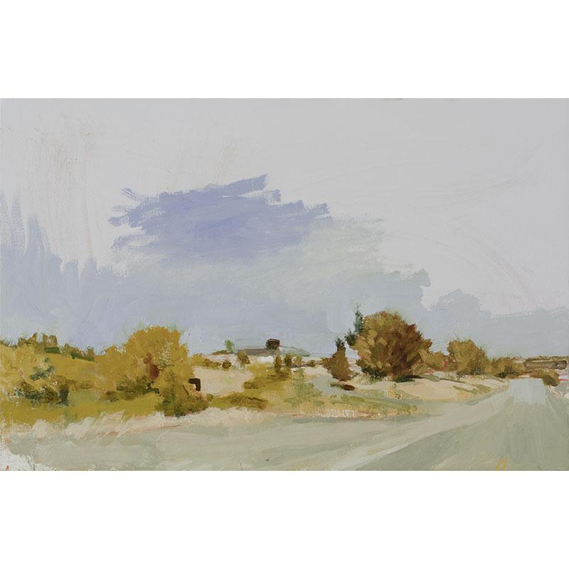 """Roseburg (10-1-15) , 2016 oil on canvas 23.25 x 35.25""""  Inquire >"""