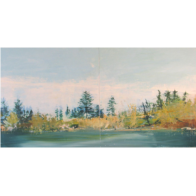 """Shore , 2007 oil on panel 30 x 60"""" diptych  Inquire >  SOLD"""