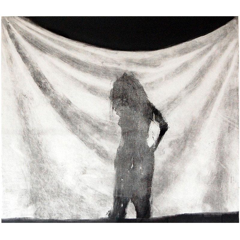 """Shroud #15 , 1995 monotype 16 x 16.5"""" image  Inquire >"""