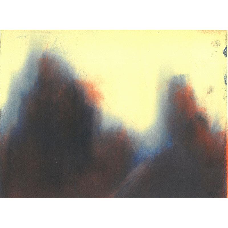 """Terra Incognita (MIX98-1) , 1998 monotype 8 x 10"""" image 15 x 22"""" paper  Inquire >"""
